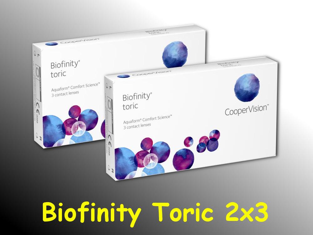 biofinity toric cooper vision 2 x 3 st ck neu ovp. Black Bedroom Furniture Sets. Home Design Ideas