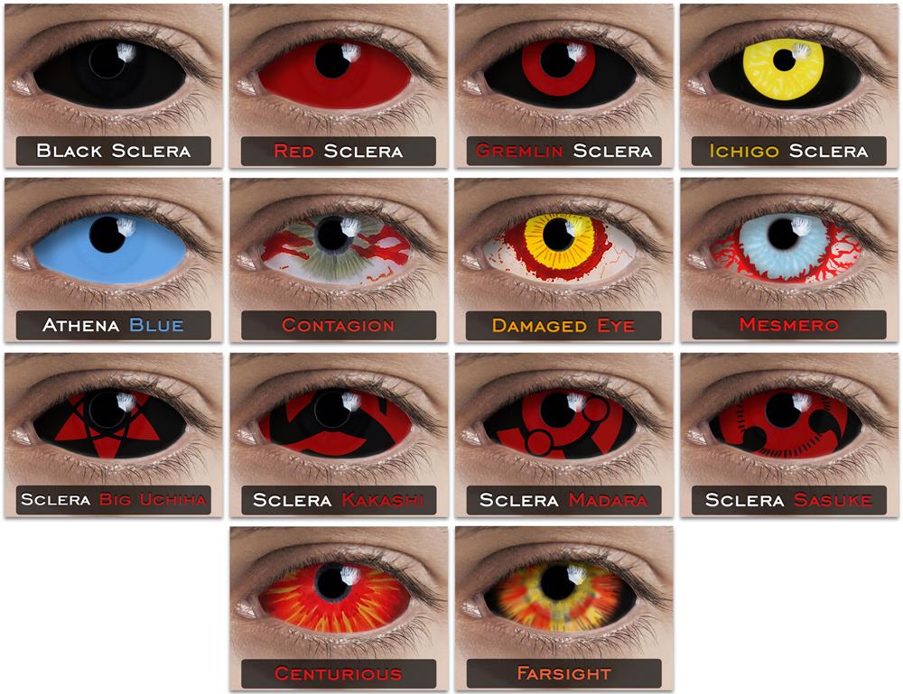 Black Contacts Halloween