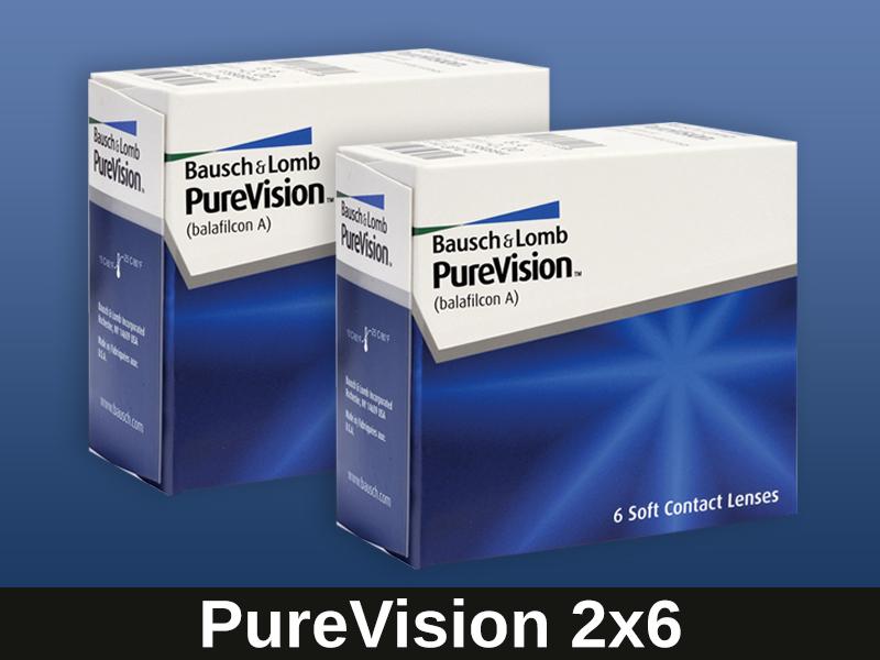 bausch lomb purevision kontaktlinsen 2x6 monatslinsen neu. Black Bedroom Furniture Sets. Home Design Ideas